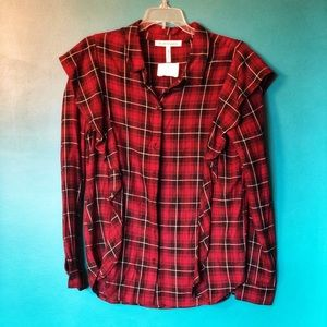BCBG - NWOT long sleeves plaid top size small